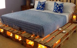 Tworzenie łóżka z palet, ważne niuanse pracy