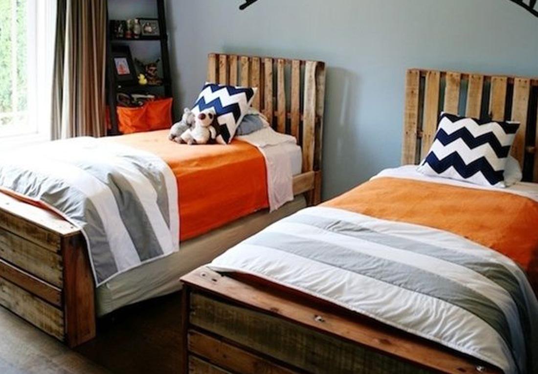 Podwójne łóżko palet