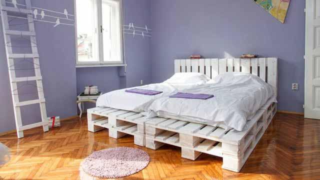 Łóżko do letniej rezydencji