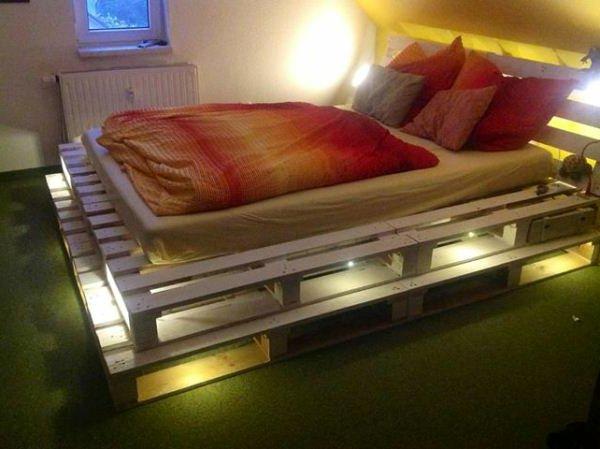 Podświetlane łóżko DIY
